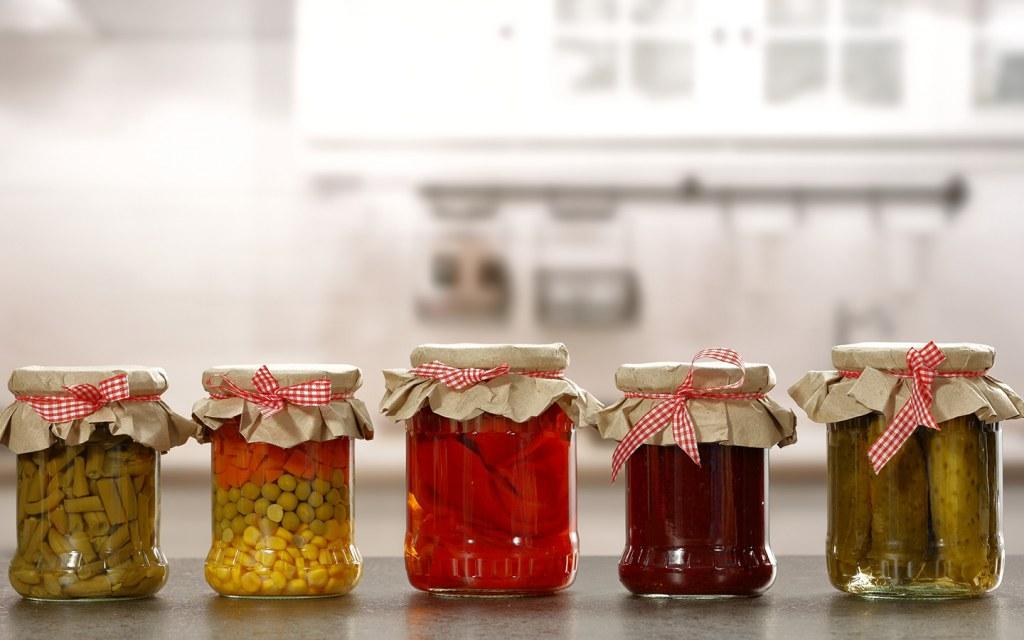 jam and pickle jars