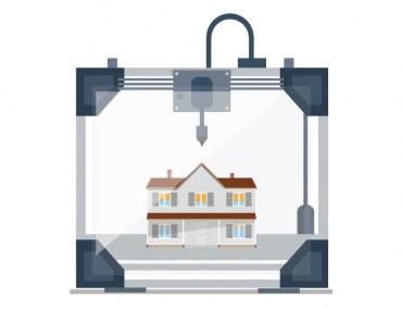 بناء منزل ثلاثي الابعاد
