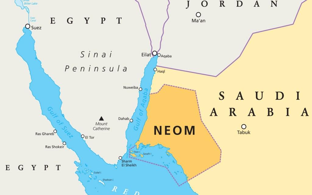 Location of Neom