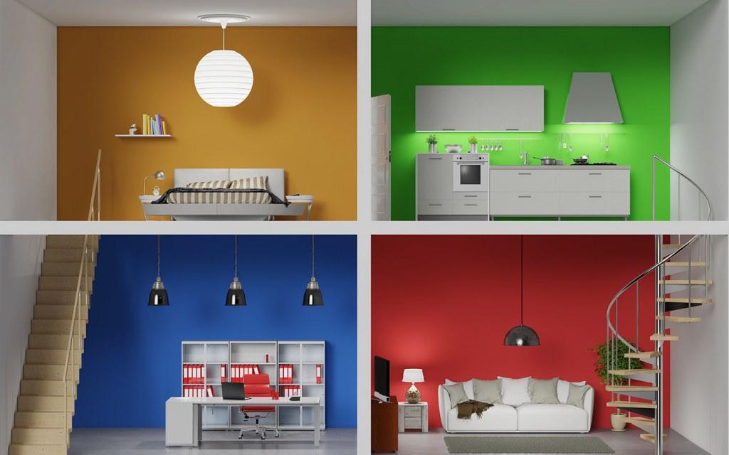 ألوان تصميم المنازل