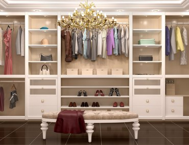غرفة ملابس صغيرة
